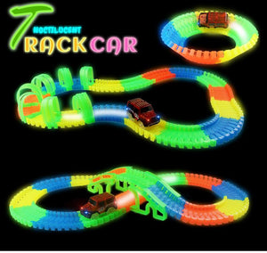 Glow Flexible Race Track Set with Bridge or Tunnel & Car/s  - Kwikibuy Amazon Global