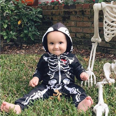 🎃 6 - 24 Months Skeleton Hooded Jumpsuit  - Kwikibuy Amazon Global Online S Hopping Mall Material: Cotton Blend Pattern Type: Character
