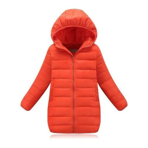 Down Jacket (Orange) | Kwikibuy Amazon | United States | Children | Kids | Winter | Outer-wear | Coat