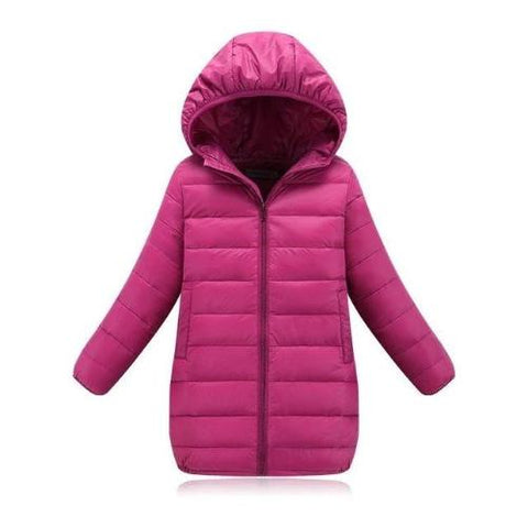 Down Jacket (Plum) | Kwikibuy Amazon | United States | Children | Kids | Winter | Outer-wear | Coat