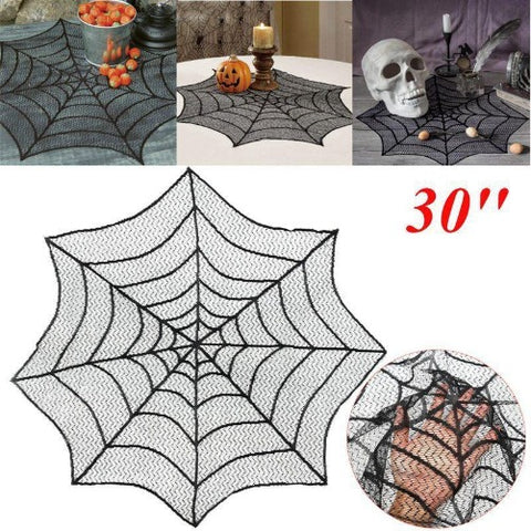 30 Inch Lace Spider Web Table-cover