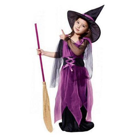 Girl's Witch Halloween Costumes With Hat