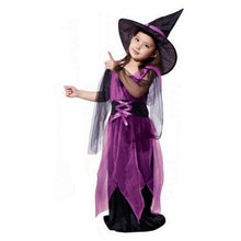 Load image into Gallery viewer, 🎃 Girl's Witch Halloween Costumes With Hat  - Kwikibuy Amazon Global Online S Hopping Mall Material: Polyester Dresses Length: Ankle-Length Style: Novelty