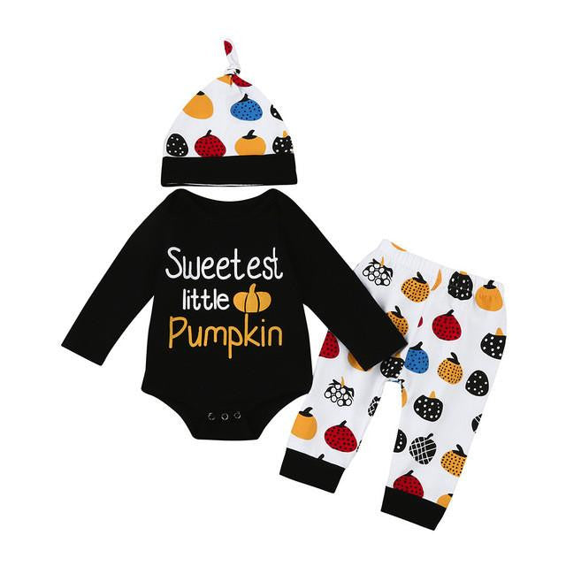 6 - 18 Months 3 Piece Sweetest Little Pumpkin Outfit | Kwikibuy Amazon | United States