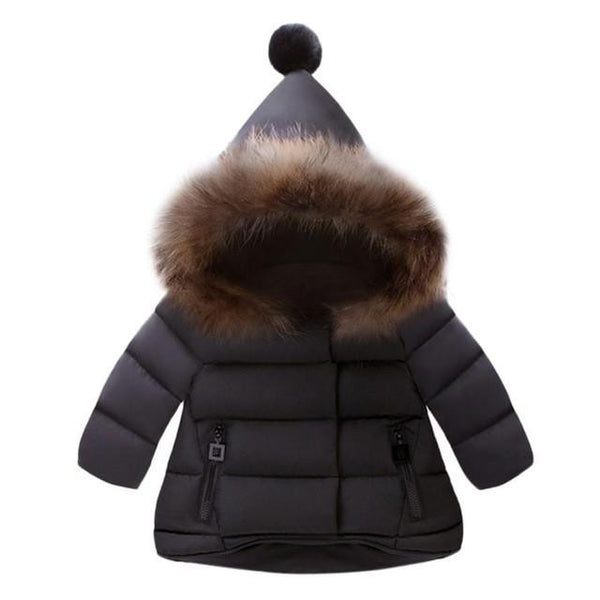 Ball Hooded Warm Jacket (Black) | Kwikibuy Amazon | United States | Children | Kids | Winter | Outer-wear | Coat