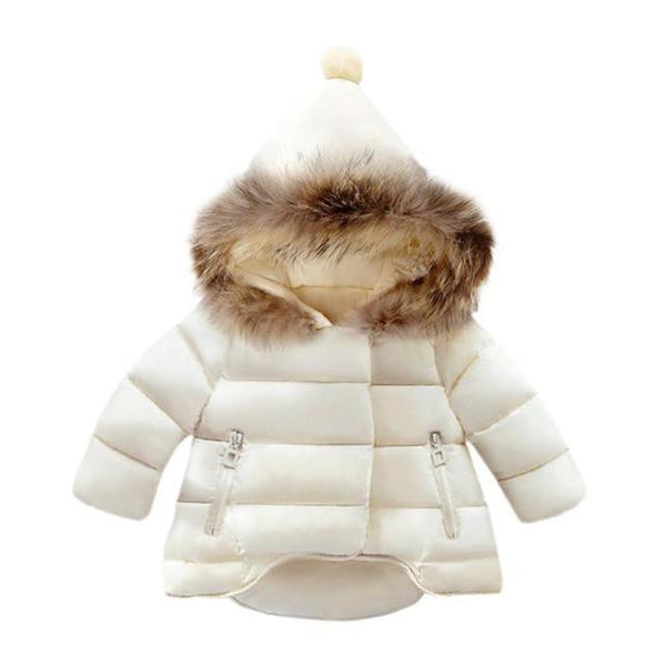 Ball Hooded Warm Jacket (White) | Kwikibuy Amazon | United States | Children | Kids | Winter | Outer-wear | Coat