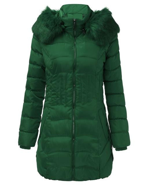 WOMEN'S HOODED DOWN FLEECE COATS (PLUS SIZES AVAILABLE) $39.99 GREEN - Kwikibuy.com™® Official Site~Free Shipping