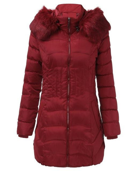 Hooded Fleece Down Jacket (Plus sizes available)  - Kwikibuy Amazon Global