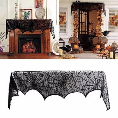 🎃 Large Size Special Black Lace Scarf Halloween Party Decoration  - Kwikibuy Amazon Global Online S Hopping Mall Material: polyester and lace Color: black