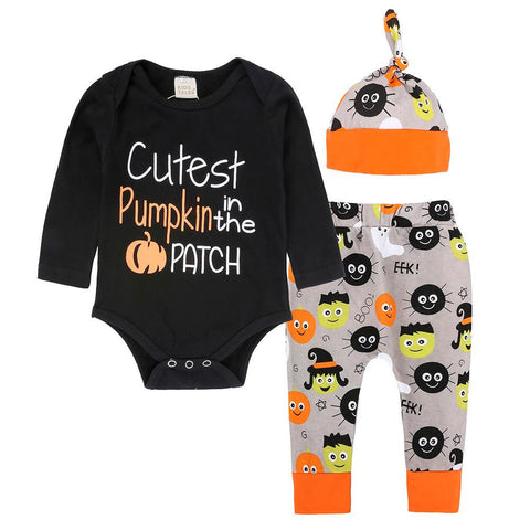 3 to 18 Months Halloween Romper Tops Pants Outfits