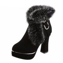 Load image into Gallery viewer, Fur-Pumps-Black  - Kwikibuy Amazon Global