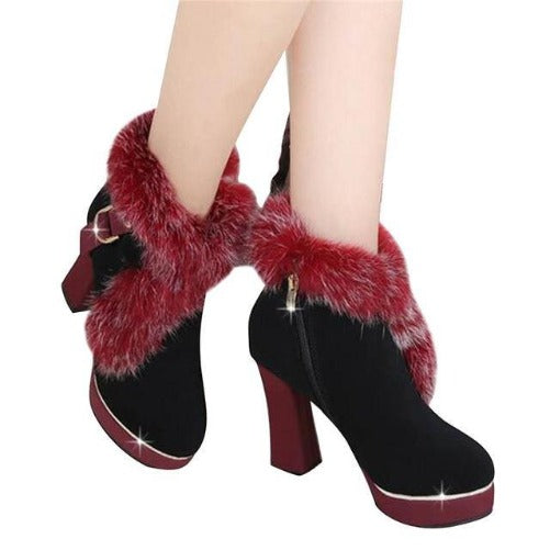Fur Pumps (Red) | Kwikibuy Amazon Global | United States | All | Women | Fashion | Clothing | Boots | Shoes