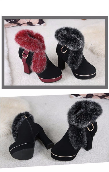 Fur Pumps (Black or Red) | Kwikibuy Amazon Global | United States | All | Women | Fashion | Clothing | Boots | Shoes