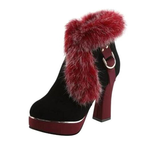 Fur-Pumps-Red  - Kwikibuy Amazon Global