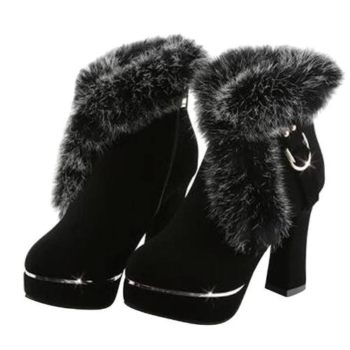 Fur Pumps (Black)  - Kwikibuy Amazon Global