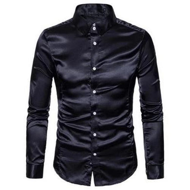 Metallic Slim Fit Long Sleeves Dress Shirt *7) Colors  - Kwikibuy Amazon Global