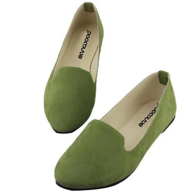 🍀 Leather Flats (8 Sizes - 10 Colors)  - Kwikibuy Amazon Global