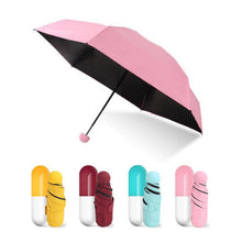 Load image into Gallery viewer, Capsule-Windproof-Pocket-Umbrella-Red-Rose  - Kwikibuy Amazon Global