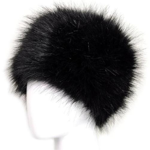 Russian Fox Fur Women's Hat  (Black) | Kwikibuy Amazon | United States | Hats | Cap | Head-wear | Fox | Fur | Women