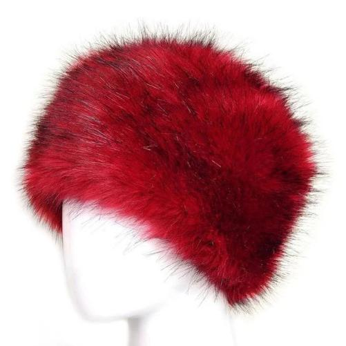 Russian Fox Fur Women's Hat (Red) | Kwikibuy Amazon | United States | Hats | Cap | Head-wear | Fox | Fur | Women