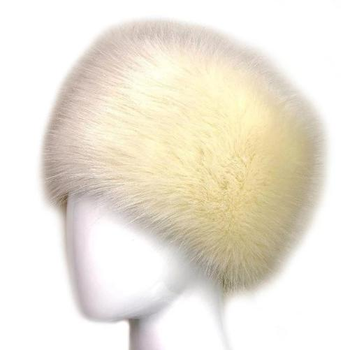 Russian Fox Fur Women's Hat  (Khaki) | Kwikibuy Amazon | United States | Hats | Cap | Head-wear | Fox | Fur | Women