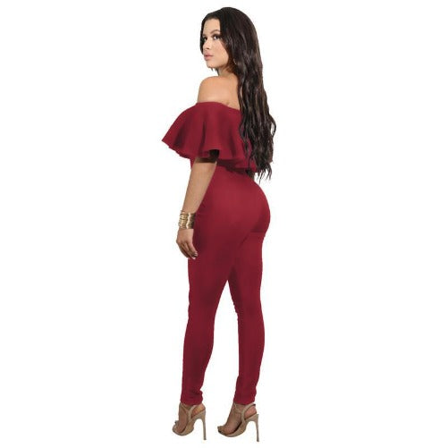 Off The Shoulder Strapless Bodycon Jumpsuit (Red) | Kwikibuy Amazon | United States | All | Women | Outerwear | Fashion | Suit | Autumn | Winter | Spring Summer | Autumn