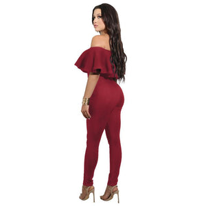 Off-The-Shoulder-Strapless-Bodycon-Jumpsuit-Red  - Kwikibuy Amazon Global