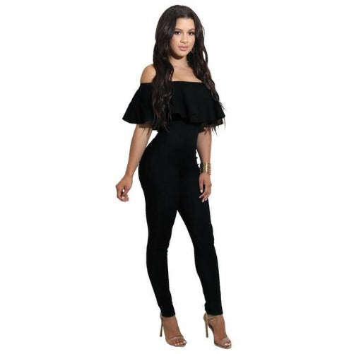 Off The Shoulder Strapless Bodycon Jumpsuit (Black) | Kwikibuy Amazon | United States | All | Women | Outerwear | Fashion | Suit | Autumn | Winter | Spring Summer | Autumn