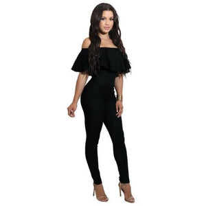 Off-The-Shoulder-Strapless-Bodycon-Jumpsuit-Black  - Kwikibuy Amazon Global