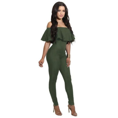 Off The Shoulder Strapless Bodycon Jumpsuit (4 Sizes - 4 Colors)  - Kwikibuy Amazon Global