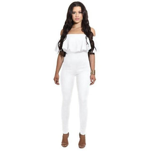 Off The Shoulder Strapless Bodycon Jumpsuit (White) | Kwikibuy Amazon | United States | All | Women | Outerwear | Fashion | Suit | Autumn | Winter | Spring Summer | Autumn
