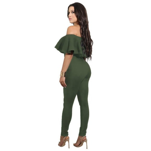 Off The Shoulder Strapless Bodycon Jumpsuit (Olive) | Kwikibuy Amazon | United States | All | Women | Outerwear | Fashion | Suit | Autumn | Winter | Spring Summer | Autumn