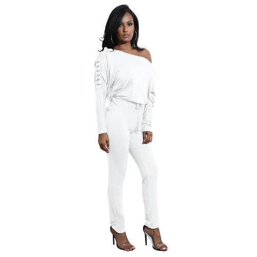 Off The Shoulder Long Sleeve Stretch Rompers (6 Colors - 4 Sizes)