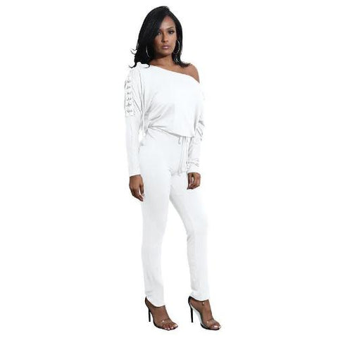 Buy-Now-Off-The-Shoulder-Long-Sleeve-Stretch-Rompers-White-Kwikibuy.com-Women-Outerwear-Fashion-Suit-Active-Wear