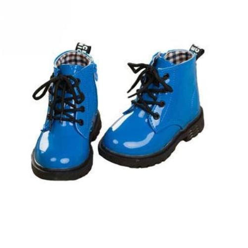 Leather-Rain-Boots-Blue 4 Colors 5 Sizes  - Kwikibuy Amazon Global