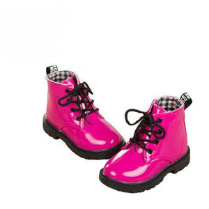 Leather Rain Boots (Pink w/fur)  - Kwikibuy Amazon Global