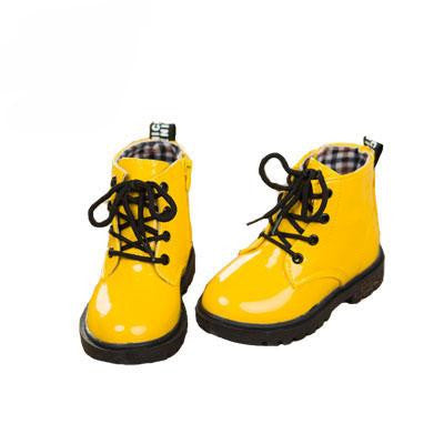 Leather Rain Boots (Yellow w/fur)  - Kwikibuy Amazon Global