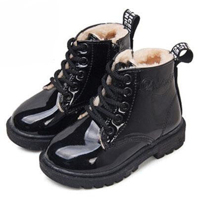 Leather Rain Boots (Black w/fur) | Kwikibuy Amazon Global | United States | All | Children | Kids | boots | Leather | Winter | Footwear | shoes | Wool