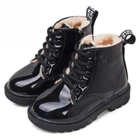 Children's Fashion Leather Rain Boots $24.99 (Black) - Kwikibuy.com™® Official Site~Free Shipping