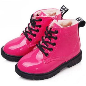 Leather-Rain-Boots-Pink-w-fur 4 Colors 5 Sizes  - Kwikibuy Amazon Global