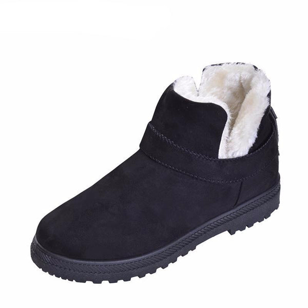 Women's Warm Winter Suede Ankle Platform Boots $29.99 (Black) - Kwikibuy.com™® Official Site~Free Shipping