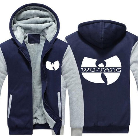 Wu-Tang  Hoodie Jacket (Navy Blue & Light Grey) $39 - Kwikibuy.com™® Official Site