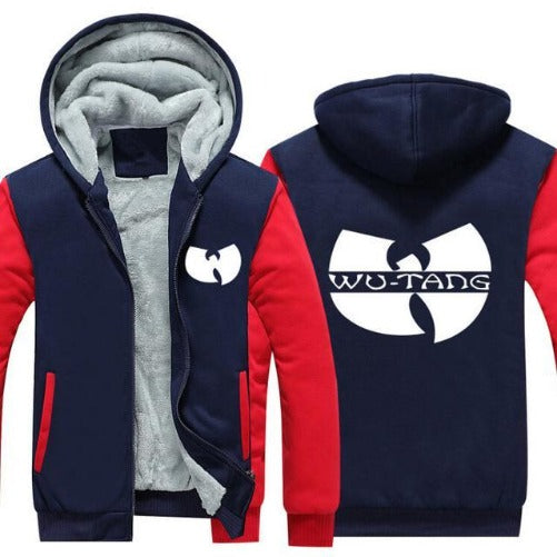 Wu-Tang Hoodie Jacket (Navy Blue & Red) | Kwikibuy Amazon Global | United States | Jackets | All | Hoodies | Wu | Tang | Fashion | Jackets | Sweater