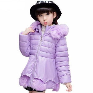 Girl's Fashionable Down Winter Jacket (Purple)  - Kwikibuy Amazon Global