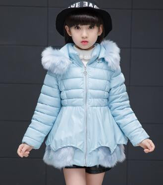 Girl's Fashionable Down Winter Jacket (Light Blue) | Kwikibuy Amazon | United States | Children | Kids | Winter | Outer-wear | Jacket
