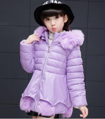 Girl's Fashionable Down Winter Jacket (Purple) | Kwikibuy Amazon | United States | Children | Kids | Winter | Outer-wear | Jacket