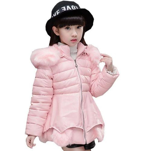 Girl's Fashionable Down Winter Jacket (Pink)  - Kwikibuy Amazon Global