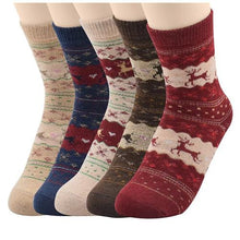 Load image into Gallery viewer, 5 Pack Women's Super Thick Mid-Calf Crew Socks  - Kwikibuy Amazon Global