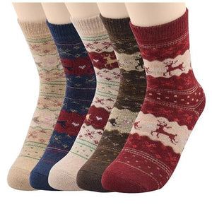 5 Pack Women's Super Thick Mid-Calf Crew Socks  - Kwikibuy Amazon Global