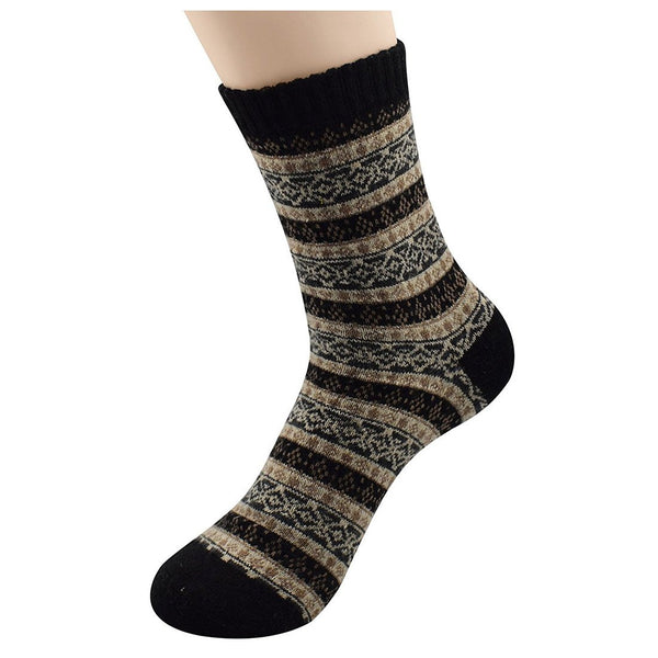5 Pack - Women's Super Thick Stripe Mid-Calf Winter Crew Socks | Kwikibuy Amazon | United States | Footwear | Socks